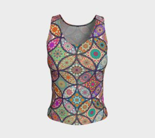 Vibrant Mandalas Fitted Tank preview