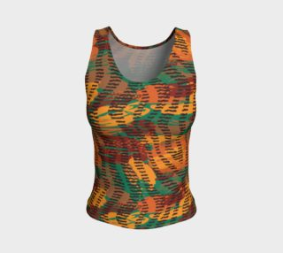 Abstract Animal Stripes Fitted Tank Top preview
