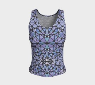 Purple and Blue Kaleidoscope Fitted Tank Top preview