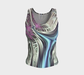 Cosmic Orchid Fitted Tank Top preview