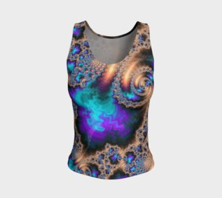 Electric Ocean Fitted Tank Top preview