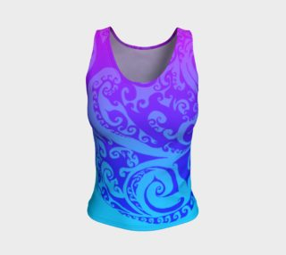 Swirly Deco Psychedelic Ombre, Tank Top, Pink Blue and Purple preview