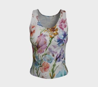 Whimsical Flowers Tank Top preview