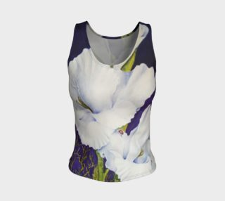White Gladiolas Tank Top preview