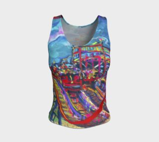 Roller Coaster 360 Fitted Tank Top preview