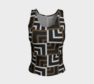 Brown and Silver Squares Fitted Tank Top preview