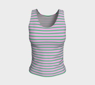Stripes - Green on Light Pink preview