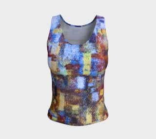Abstract Mosaic with Blue Tank preview
