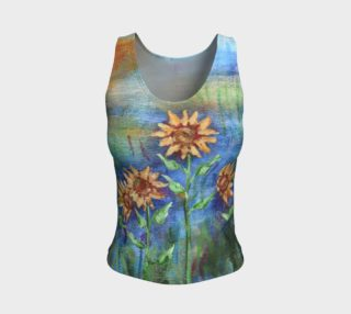 Sunflowers Denim Tank preview