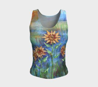 Sunflowers Denim Tank aperçu