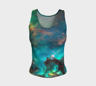 Star Cluster NGC 2074 in Cosmic Cloud Fitted Tank Top preview