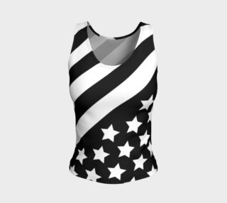 Stars and Stripes Black  Fitted tank preview