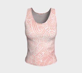 Rose quartz and white swirls doodles Fitted Tank Top preview