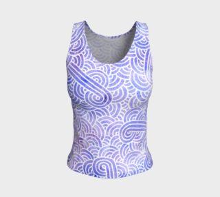 Lavender and white swirls doodles Fitted Tank Top preview