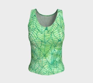 Green foliage Fitted Tank Top aperçu
