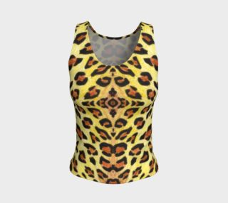 Leopard fur Fitted Tank Top preview