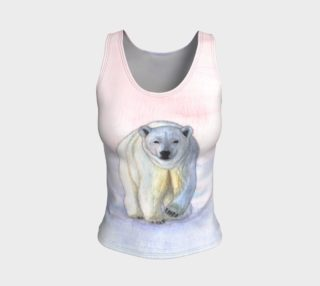 Polar bear in the icy dawn Fitted Tank Top preview