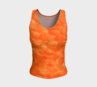 Orange Explosion Fitted Tank Top preview