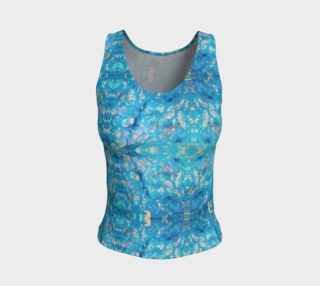 Aperçu de Waterfall Mosaic Fitted Tank Top