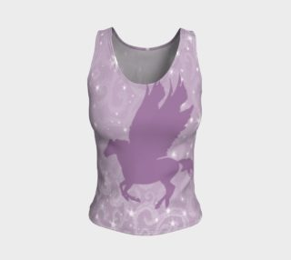 Pale Purple Pegasus Magic Fitted Tank Top preview