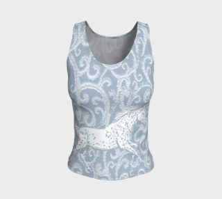 Leopard Appaloosa Horse Blue  Fantasy Fitted Tank Top preview