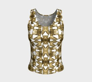 Aperçu de Coffee Mosaic Fitted Tank Top