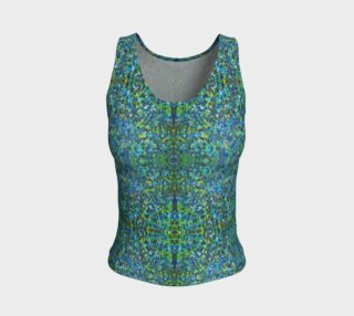 Aperçu de Turquoise Stone Mosaic Fitted Tank Top