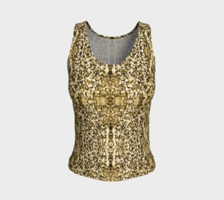Aperçu de Gold Stone Mosaic Fitted Tank Top