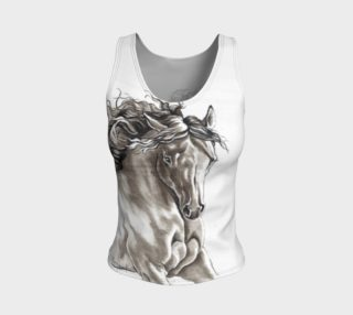 Dreamer Horse Ink Art Fitted Tank Top preview