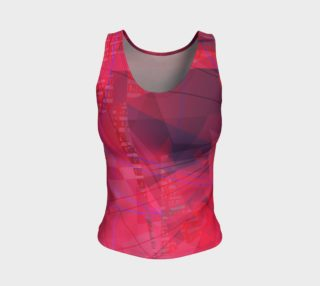 Pink Doodles Fitted Tank preview