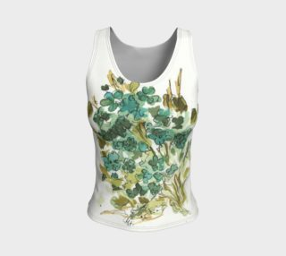 blue floral fitted tank preview