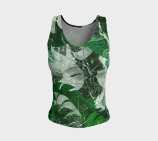 Tropical leaves Fitted Tank Top preview