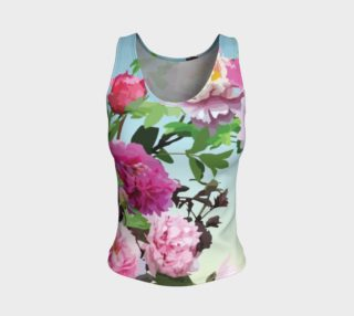 Chinese Peonies Fitted Tank Top preview