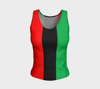 Aperçu de Kwanzaa Striped Pattern Red Black Green