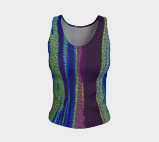 Color Dance Fitted tank top preview
