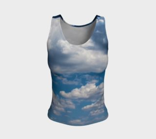 In the Clouds  Fitted Tank Top preview