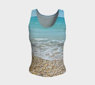 I Love The Beach Fitted Tank Top preview