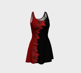Canada Maple Leaf Dress - Black Flared preview
