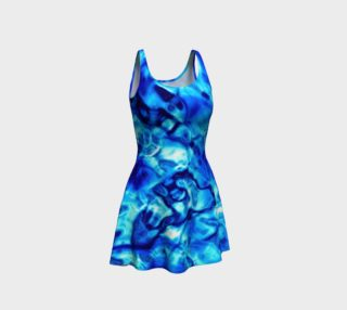 Glistening Blue Water Texture Flare Dress preview