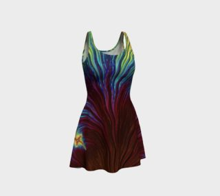 Rainbow Copper Fractal 19 Flare Dress preview