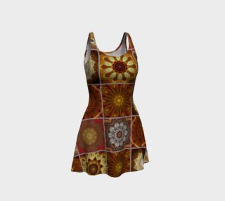 Golden Thai Crazy Quilt Flare Dress preview