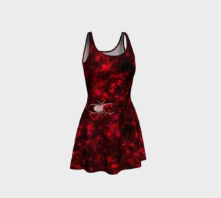Red Spider Swarm Flare Dress preview
