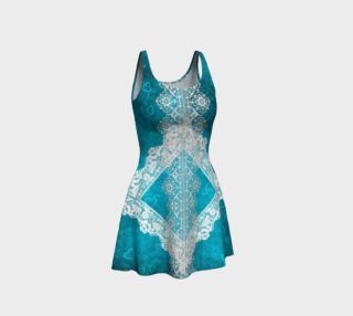 Blue Lace Design Dress preview