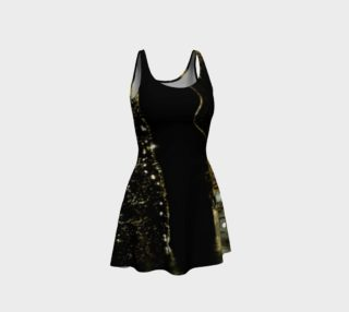 Golden drops flare dress preview