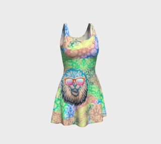 Fun Lion Sunglasses Tye-die Dress preview