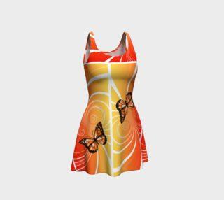 Aperçu de Gold Monarch Design Flare Dress