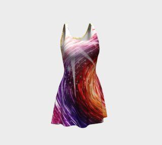 Rainbow Sparkle Swirl Flare Dress preview