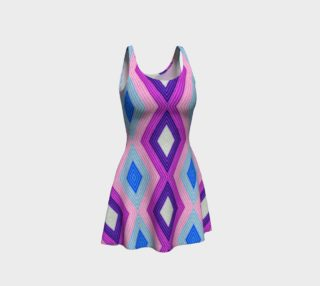 Geometric Candy Flare Dress preview