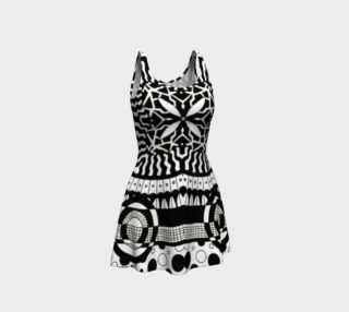 Black and White Retro Dress preview