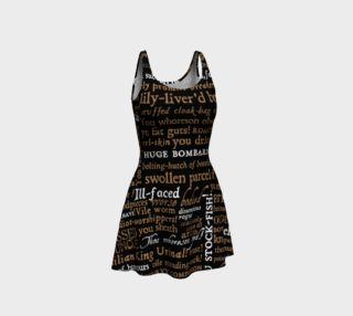Shakespeare Insults Collection Flare Dress preview